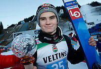 1st January 2020, Olympiaschanze, Garmisch Partenkirchen, Germany, FIS World cup Ski Jumping, 4-Hills competition; Marius Lindvik wins the New Years ski jumping in Garmisch  Partenkirchen