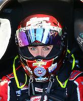 Feb 3, 2016; Chandler, AZ, USA; NHRA funny car driver Courtney Force during pre season testing at Wild Horse Pass Motorsports Park. Mandatory Credit: Mark J. Rebilas-USA TODAY Sports