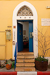 Israel, Tel Aviv-Yafo. Agnon House,  residence of Nobel prize laureate writer Shmuel Yosef Agnon in Neve Tzedek
