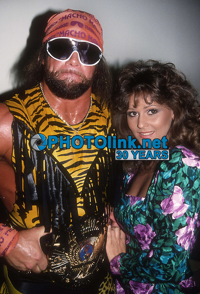 "Randy ""Macho Man"" Savage and his manager Miss Elizabeth 1991<br /> Photo By Adam Scull/PHOTOlink.net"