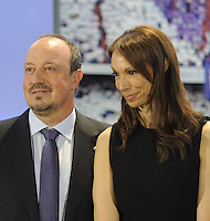 Rafael Benitez, New Coach Real Madrid; Montse Benitez