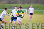 Kerry's Stephen O'Brien pulls away from IT Tralee's John Horgan and Sean T Dillon in the McGrath cup.