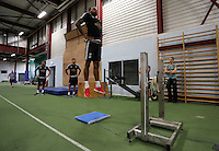 Pictured: Kyle BartleyTuesday 30 June 2015<br /> Re: Pre-season assessment of Swansea City FC players on the grounds of Swansea University, south Wales, UK