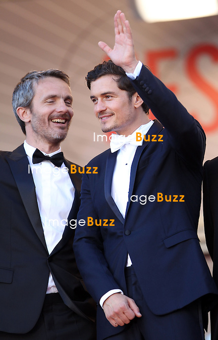 CPE/Actor Orlando Bloom, director Jerome Salle attend the 'Zulu' Premiere and Closing Ceremony during the 66th Annual Cannes Film Festival at the Palais des Festivals on May 26, 2013 in Cannes, France
