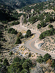 Nevada Highway SR 722, Old US 50 winding up west side of Carrol Summit in the Desatoya Range.