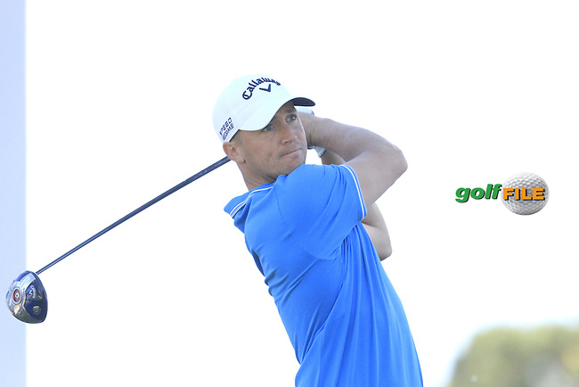 Alex Noren (SWE) on the 17th tee during Thursday's Round 1 of The Open De Espana at The PGA Catalunya Resort. 15th May 2014.<br /> Picture:  Thos Caffrey / www.golffile.ie