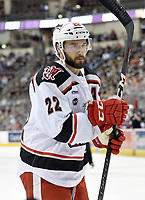 HERSHEY, PA - JANUARY 05: Grand Rapids Griffins center Wade Megan (22) during the Grand Rapids Griffins vs. Hershey Bears AHL game at the Giant Center in Hershey, PA. (Photo by Randy Litzinger/Icon Sportswire)