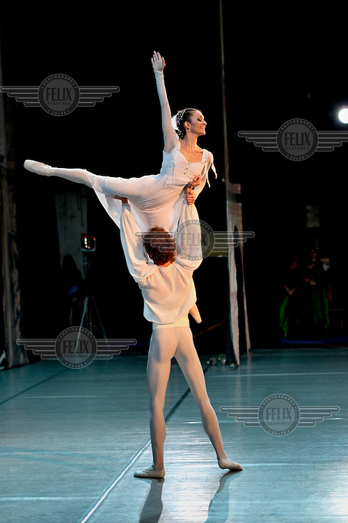 Ballet dancers, most of them graduates from the Moldova State College of Choreography, during a performance of Romeo and Juliet staged at the Chisinau Opera House.