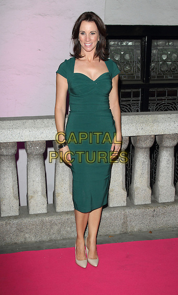 Andrea McLean<br /> The Inspiration Awards For Women 2013, Cadogan Hall, Sloane Terrace, London, England.<br /> October 2nd, 2013<br /> full length green dress <br /> CAP/ROS<br /> &copy;Steve Ross/Capital Pictures