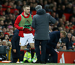 Luke Shaw of Manchester United prepares to come on  during the English Premier League match at Old Trafford Stadium, Manchester. Picture date: April 4th 2017. Pic credit should read: Simon Bellis/Sportimage