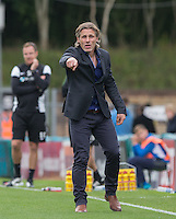 Wycombe Wanderers Manager Gareth Ainsworth gives instructions during the Sky Bet League 2 match between Wycombe Wanderers and Hartlepool United at Adams Park, High Wycombe, England on 5 September 2015. Photo by Andy Rowland.