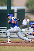 Chicago Cubs third baseman Gioskar Amaya (12) during an Instructional League intersquad game on October 9, 2014 at Cubs Park Complex in Mesa, Arizona.  (Mike Janes/Four Seam Images)