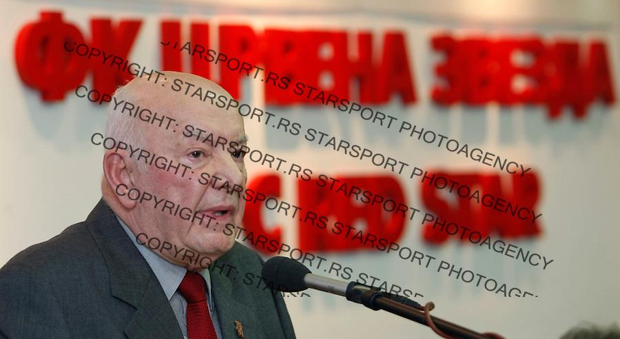 Fudbal,.FK Crvena ZvezdaIzborna skupstina, sabor.Dobrivoje Tanasijevic, Dan Tana, President, Predsednik Crvene Zvezde.Beograd, 19.03.2009..Photo: © Srdjan Stevanovic/Starsportphoto.com