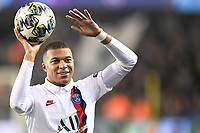 JOIE - FAIR PLAY - 07 KYLIAN MBAPPE (PSG) celebrates after scoring a goal <br /> Bruges 22-10-2019 <br /> Club Brugge - Paris Saint Germain PSG <br /> Champions League 2019/2020<br /> Foto Panoramic / Insidefoto <br /> Italy Only