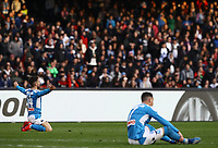 9th February 2020; Stadio San Paolo, Naples, Campania, Italy; Serie A Football, Napoli versus Lecce; Arkadiusz Milik of Napoli is brought down in the box but no decision given and Dries Mertens of Napoli complains