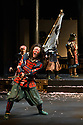 "Ninagawa Company presents William Shakespeare's ""Macbeth"" at the Barbican Centre.  This production is directed by Yukio Ninagawa, with set design by Kappa Senoh and lighting design by Sumio Yoshii. The cast is: Masachika Ichimura (Macbeth), Yuko Tanaka (Lady Macbeth), Kazunaga Tsuji (Banquo), Keita Oishi Macduff), Tetsuro Sagawa King Duncan)."