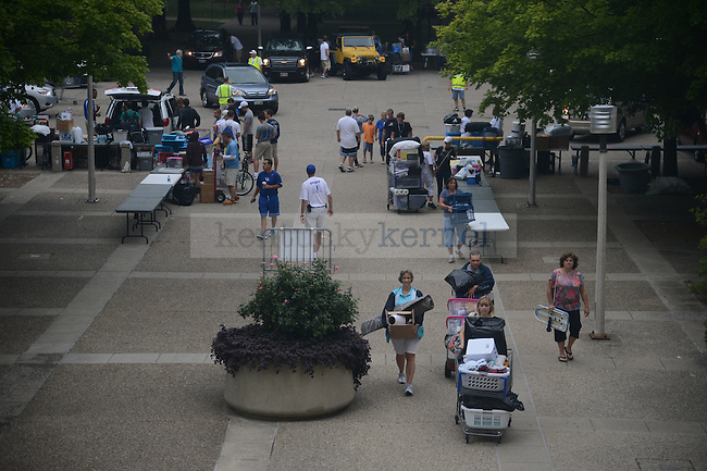 Freshman move in day on South Campus on August 17th, 2012.