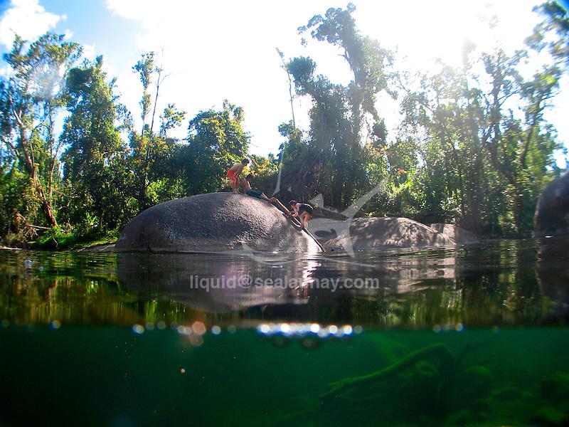 Gorge of Babinda Boulders, swim in the fresh water pool.