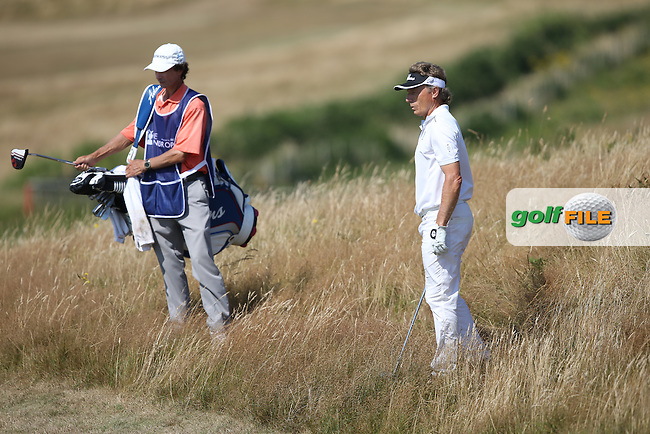 Bernhard Langer (GER) in the rough on the edge of the 6th during Round Two of the 2014 Senior Open Championship presented by Rolex from Royal Porthcawl Golf Club, Porthcawl, Wales. Picture:  David Lloyd / www.golffile.ie