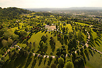 Aerial of Willamette National Cemetary, Portland, Oregon