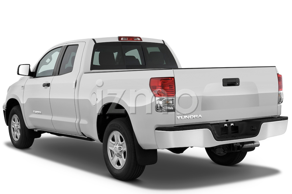 Rear three quarter view of a 2010 Toyota Tundra Double Cab 2WD