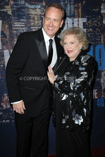 WWW.ACEPIXS.COM<br /> February 15, 2015 New York City<br /> <br /> Robert Greenblatt and Betty White the SNL 40th Anniversary Special at 30 Rockefeller Plaza on February 15, 2015 in New York City.<br /> <br /> Please byline: Kristin Callahan/AcePictures<br /> <br /> ACEPIXS.COM<br /> <br /> Tel: (646) 769 0430<br /> e-mail: info@acepixs.com<br /> web: http://www.acepixs.com