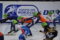 SCHAATSEN: DORDRECHT: Sportboulevard, Korean Air ISU World Cup Finale, 11-02-2012, Relay Ladies, Yara van Kerkhof NED (147), Annita van Doorn NED (145), ©foto: Martin de Jong