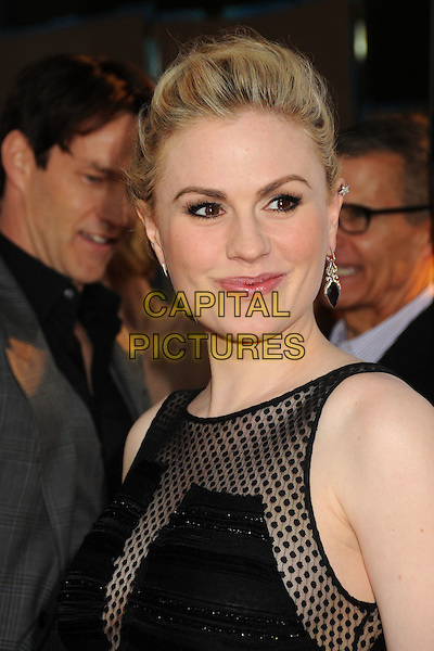 "Anna Paquin .HBO's ""True Blood"" Season 5 Premiere, Hollywood, California, USA..May 30th, 2012.headshot portrait black sheer polka dot earrings   .CAP/ADM/BP.©Byron Purvis/AdMedia/Capital Pictures."