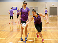 17.08.2017 Silver Ferns Mia Wilson during the Silver Ferns training in Auckland. Mandatory Photo Credit ©Michael Bradley.