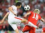 Jacek Bak and Roman Kienast at Euro 2008 Austria-Poland 06122008, Wien, Austria