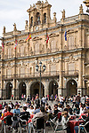 Ayuntamiento - Town Hall, Plaza Mayor Main Square, Salamanca, Castile and Leon, Spain