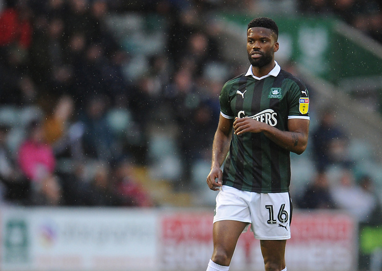 Plymouth Argyle's Joel Grant<br /> <br /> Photographer Kevin Barnes/CameraSport<br /> <br /> The EFL Sky Bet League One - Plymouth Argyle v Fleetwood Town - Saturday 24th November 2018 - Home Park - Plymouth<br /> <br /> World Copyright © 2018 CameraSport. All rights reserved. 43 Linden Ave. Countesthorpe. Leicester. England. LE8 5PG - Tel: +44 (0) 116 277 4147 - admin@camerasport.com - www.camerasport.com