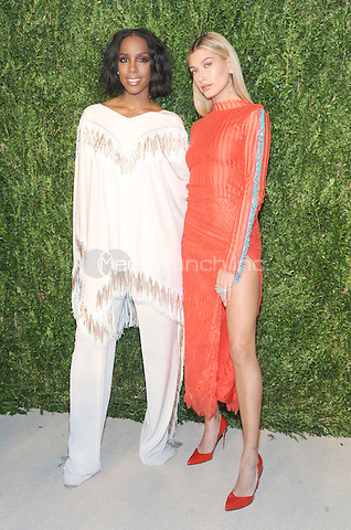 NEW YORK, NY - NOVEMBER 07: Kelly Rowland and Hailey Baldwin attends 13th Annual CFDA/Vogue Fashion Fund Awards at Spring Studios on November 7, 2016 in New York City. Photo by John Palmer/ MediaPunch