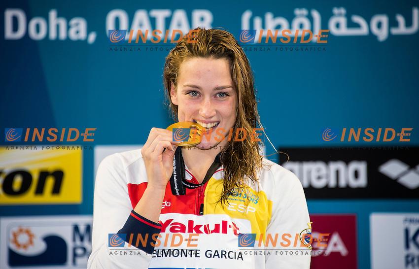 BELMONTE GARCIA Mireya ESP Gold Medal WR<br /> Women's 200m Butterfly Final<br /> Doha Qatar 03-12-2014 Hamad Aquatic Centre, 12th FINA World Swimming Championships (25m). Nuoto Campionati mondiali di nuoto in vasca corta.<br /> Photo Giorgio Scala/Deepbluemedia/Insidefoto