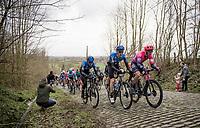 Sep Vanmarcke (BEL/EF Education First), Michael Gogl (AUT/NTT) & Giacomo Nizzolo (ITA/NTT) up the Mont Saint-Laurent<br /> <br /> 72nd Kuurne-Brussel-Kuurne 2020 (1.Pro)<br /> Kuurne to Kuurne (BEL): 201km<br /> <br /> ©kramon