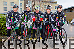Pictured are the Killarney CC  team who took part in the Lacey Cup Cycle on Sunday were Greg Whelan, Joe O Leary, Derry Doyle, Richard Maze and Keith Curtin