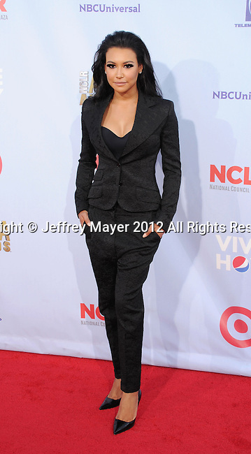 PASADENA, CA - SEPTEMBER 16: Naya Rivera arrives at the 2012 NCLR ALMA Awards at Pasadena Civic Auditorium on September 16, 2012 in Pasadena, California.