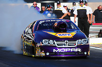 Feb. 9, 2012; Pomona, CA, USA; NHRA pro stock driver Vincent Nobile during qualifying at the Winternationals at Auto Club Raceway at Pomona. Mandatory Credit: Mark J. Rebilas-