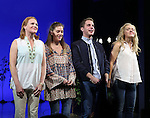 Jennifer Laura Thompson, Laura Dreyfuss, Ben Platt and Rachel Bay Jones during the Broadway Opening Night Performance Curtain Call for 'Dear Evan Hansen'  at The Music Box Theatre on December 3, 2016 in New York City.