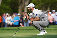 Dustin Johnson (USA) on the 13th green during the 1st round at the PGA Championship 2019, Beth Page Black, New York, USA. 17/05/2019.<br /> Picture Fran Caffrey / Golffile.ie<br /> <br /> All photo usage must carry mandatory copyright credit (© Golffile | Fran Caffrey)