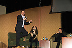 """Jacob shows his dancing - A Tribute to Pine Valley - All My Children's Alicia Minshew """"Kendall"""" and Jacob Young """"ex JR and """"Rick Forrester"""" on The Bold and the Beautiful on February 16, 2013 with fans for Q&A, autographs, photos at Foxwoods Resorts Casino in Mashantucket, CT and February 17, 2013 at Valley Forge Casino Resort in King of Prussia, PA. (Photo by Sue Coflin/Max Photos)"""
