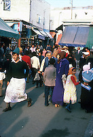 People in busy market. Cassablanca,Morocco
