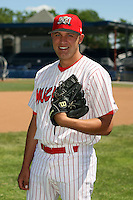 June 30th, 2007:  Wayne Daman of the Batavia Muckdogs, Short-Season Class-A affiliate of the St. Louis Cardinals at Dwyer Stadium in Batavia, NY.  Photo by:  Mike Janes/Four Seam Images