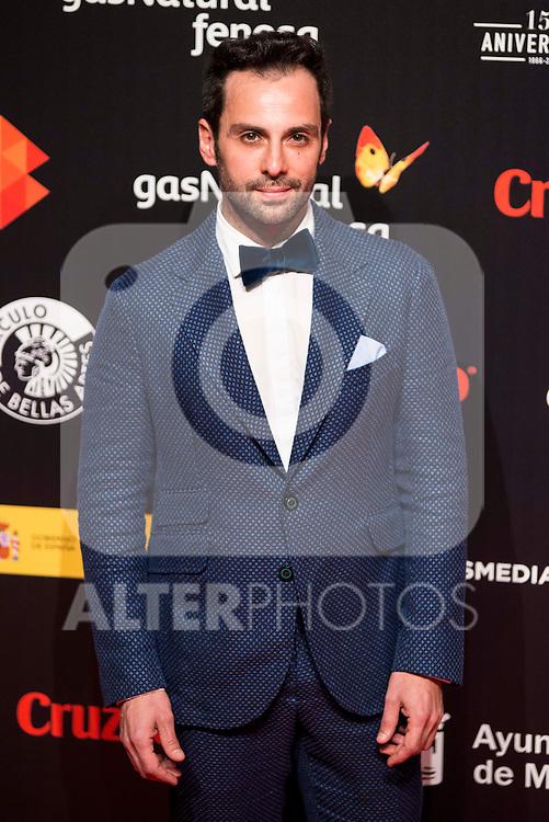 Carlo Dursi attends to the cocktail presentation of the XIX Malaga Film Festival at Circulo de Bellas Artes in Madrid. April 06, 2016. (ALTERPHOTOS/Borja B.Hojas)