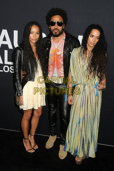 10 February 2016 - Los Angeles, California - Zoe Kravitz, Lenny Kravitz, Lisa Bonet. Saint Laurent At The Palladium held at the Hollywood Palladium. <br /> CAP/ADM/BP<br /> &copy;BP/ADM/Capital Pictures