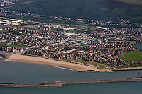 Pictured: Aerial view of Port Talbot, south Wales.<br />