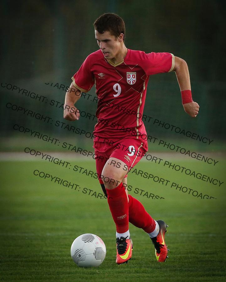 Fudbal Soccer<br /> International Friendly-Prijateljski mec<br /> Srbija U17 v Belorusiaj U17<br /> Filip Stuparevic<br /> Stara Pazova, 20.09.2016<br /> foto: Srdjan Stevanovic/Starsportphoto &copy;
