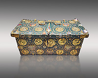 "Medieval case known as ""of Saint Louis"",  made in Limoges around 1236. Given by Philip the Fair to the Abbey of Notre Dame du Lis with relics of Saint Louis inside., Paris. inv 253, The Louvre Museum, Paris."