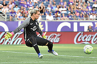 Orlando, FL - Saturday Sept. 24, 2016: Ashlyn Harris during a regular season National Women's Soccer League (NWSL) match between the Orlando Pride and FC Kansas City at Camping World Stadium.