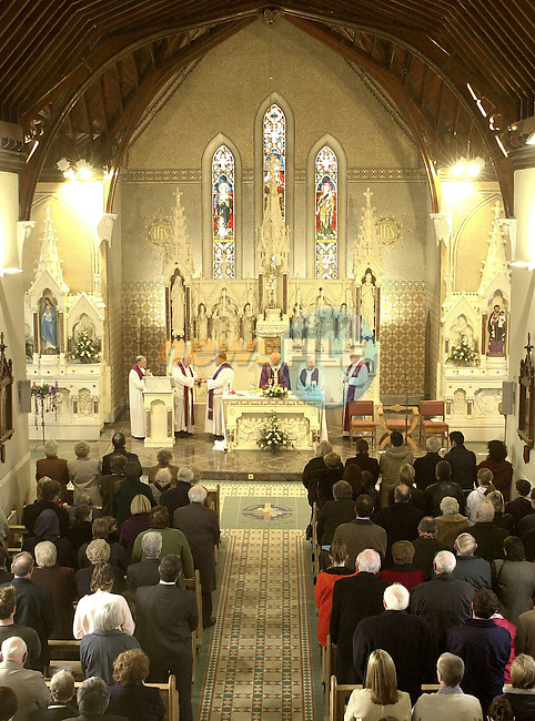Most Rev. Dr. Sean Brady, Archbishop of Armagh assisted  by Very Rev. James Shevlin, P.P., Dunleer, Very Rev. James Clyne, P.P., Ardee, Very Rev. Canon John Mulgrew, P.E., A.P., Kilsaran, Very Rev. Canon John Mc Grane, P.E., A.P., Derrynoose and Very Rev. John Murphy, P.E., A.P., Dunleer at the Re-Dedication of St. Brigid's Church, Dunleer.